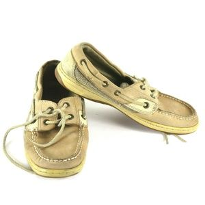 Sperry Beige light brown Tan Top-Sider Lace Up 7m